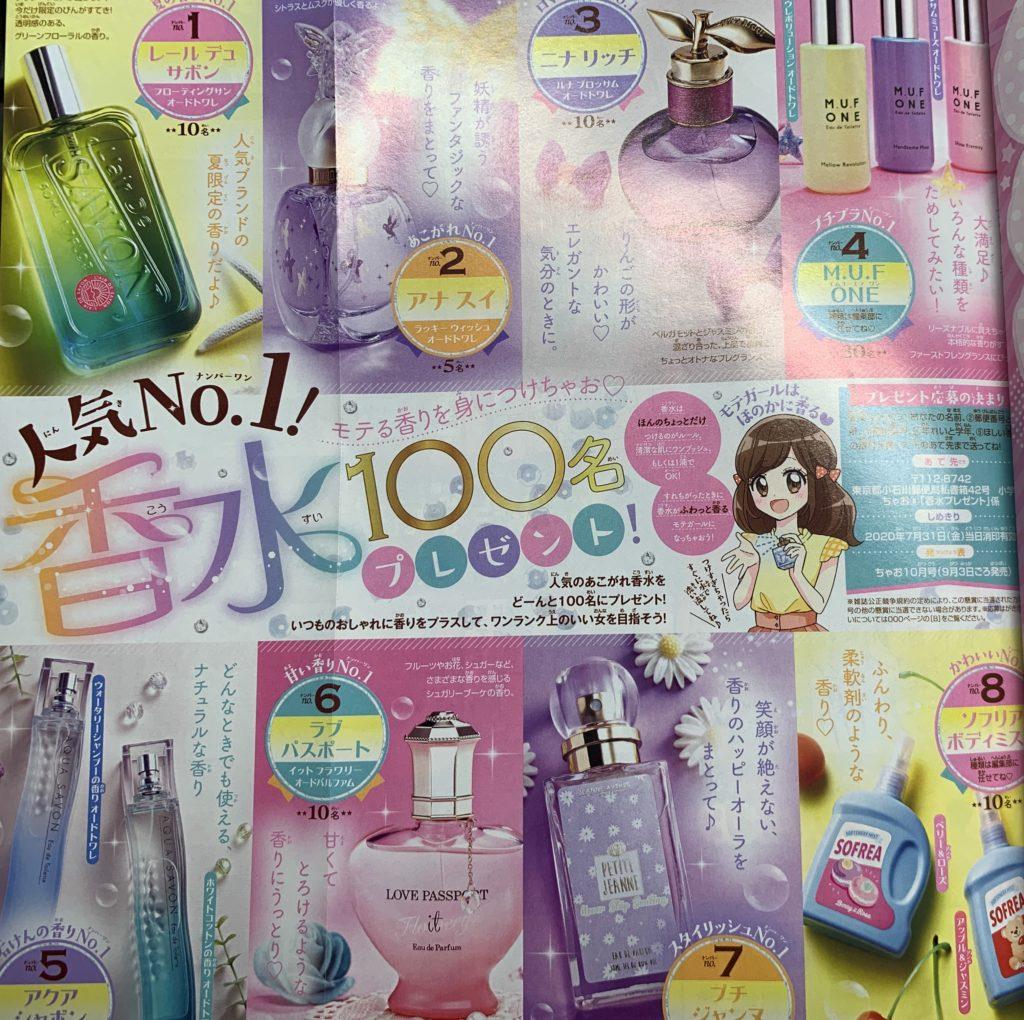 本物のブランドの香水をプレゼント