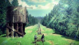 線路の上をいく少年